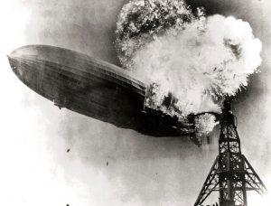 El trágico suceso del Zeppelin LZ 129 Hinderburg